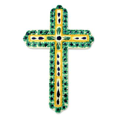 Hand Made Religious Ceramic Cross