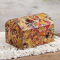 Featured review for Decoupage chest, Happy Catrina