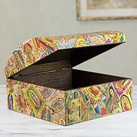 Decoupage box, 'Many Faces of Guadalupe' - Decoupage box