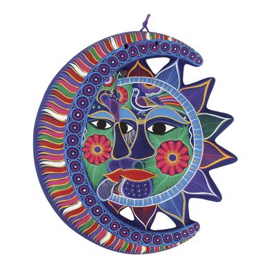 Unique Sun and Moon Ceramic Wall Art