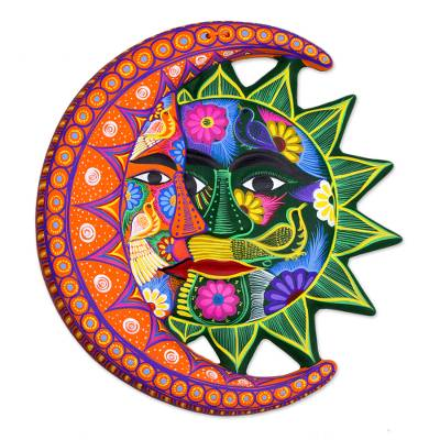 Colorful Sun And Moon Ceramic Wall Art Eclipse Choir