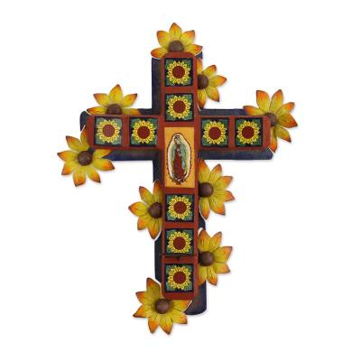 Fair Trade Religious Ceramic Wall Sconce