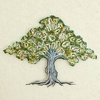 Steel wall art, 'Tule Tree' - Collectible Mexican Steel Wall Art