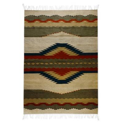 Zapotec wool rug (5x7)