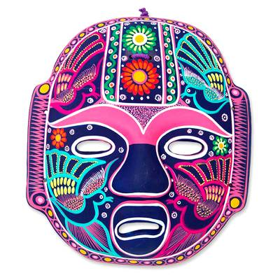Handmade Mexican Folk Art Ceramic Wall Mask