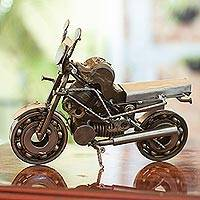Auto part statuette, 'Rustic Monster Motorbike' (Mexico)