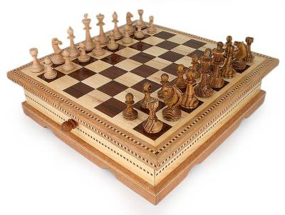 Wood chess set, 'Imperial Challenge' - Wood chess set