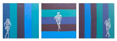 Mexican Modern Freestyle Paintings (Triptych)