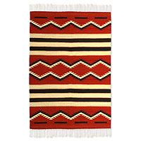 Zapotec wool rug, '(4x6) - Zapotec wool rug (4x6)