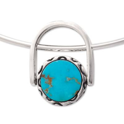 Turquoise and obsidian jewelry set