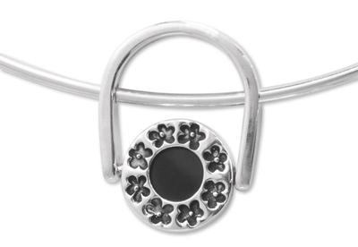 Obsidian jewelry set