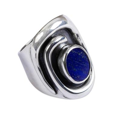 Lapis lazuli cocktail ring