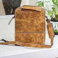 Leather tablet case, 'Honey Cyberspace'