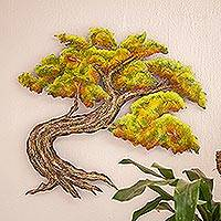 Steel wall art, 'Bonsai' (medium) - Steel wall art (Medium)