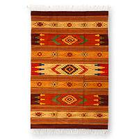 Zapotec wool rug, 'Stellar Magnificence' (4x7) - Zapotec Wool Area Rug from Mexico (4x7)
