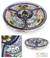 Ceramic appetizer server, 'Daisy Stars' - Fair Trade Mexican Floral Ceramic Platter Canape Serveware (image 2) thumbail