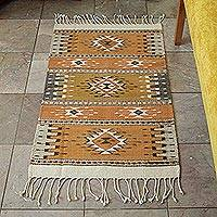 Zapotec wool rug, 'Light of the Horizon' (2x3.5) - Zapotec wool rug (2x3.5)