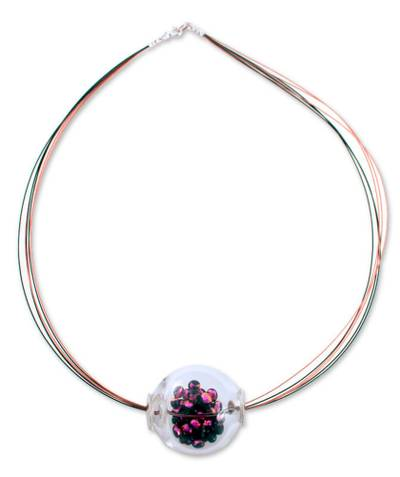 Dichroic art glass necklace