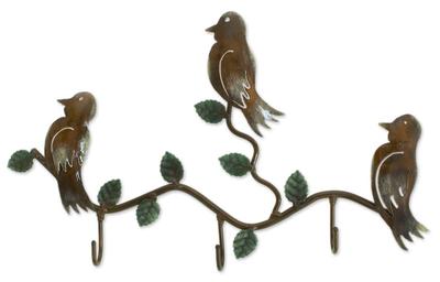 Steel Bird Coat and Key Holder
