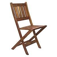 Wood folding chair, 'Paradise Hacienda' - Wood folding chair