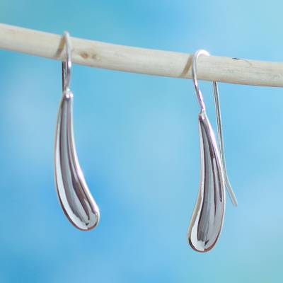 Sterling silver drop earrings, 'Forever Taxco' - Modern Sterling Silver Drop Earrings