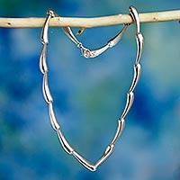 Sterling silver link necklace, 'Forever Taxco' - Sterling Silver Necklace Handmade in Mexico