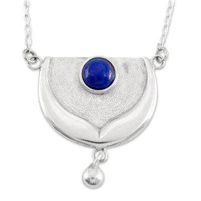 Collectible Zodiac Sterling Silver Lapis Lazuli Necklace