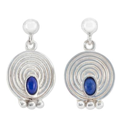 Unique Sterling Silver Lapis Lazuli Earrings