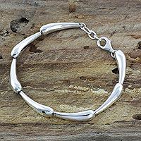 Sterling silver link bracelet, 'Forever Taxco'