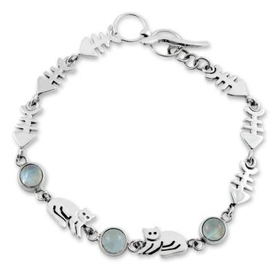 Unique Sterling Silver Moonstone Bracelet