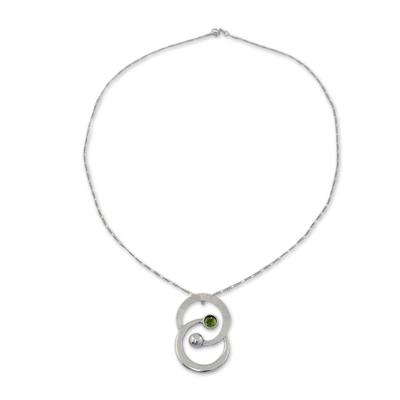 Zodiac Sterling Silver Peridot Necklace
