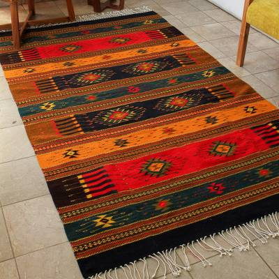Zapotec wool rug, Color of Life (5x8)