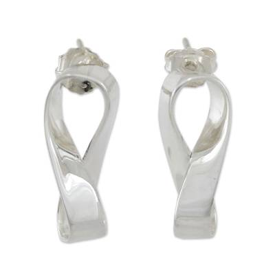 Handmade Sterling Silver Sterling Silver Button Earrings