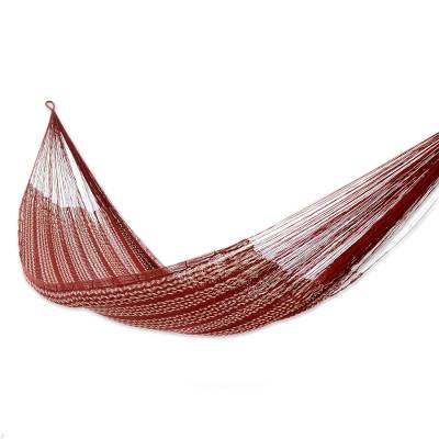 Double Mayan Rope Style Cotton Hammock Mexico