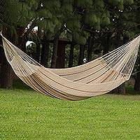 Cotton hammock, 'Sunset Riviera' (double) - Unique Cotton Mayan Hammock (Double)