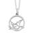 Sterling silver pendant necklace, 'Gentle Dove' - Hand Crafted Peace and Calm Sterling Silver Bird Necklace (image 2a) thumbail