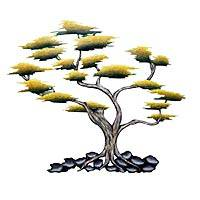 Steel wall art, 'Strong Roots' - Cypress Tree Artisan Crafted Steel Wall Art Sculpture