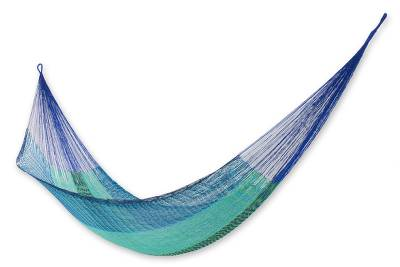 Hand Crafted Cotton Blend Mayan Hammock (Double)