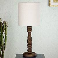 Mahogany table lamp, 'Nature's Dream' - Mahogany table lamp