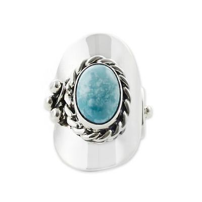 Turquoise wrap ring