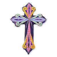 Ceramic wall cross,