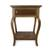 Parota wood end table, 'Colonial Mansion' - Parota Wood End Table from Mexico (image 2b) thumbail