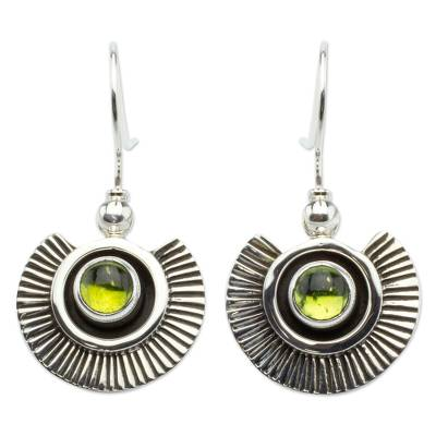 Artisan Crafted Earrings with Peridot and Sterling Silver
