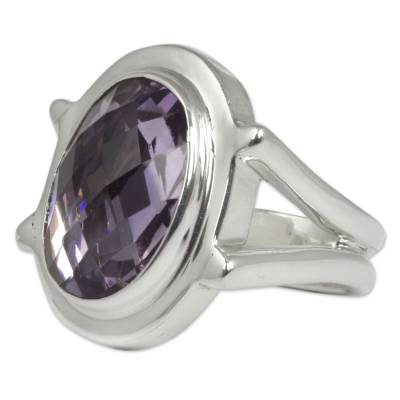 Taxco Silver Ring with Amethyst