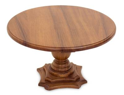 Parota wood accent table, 'Colonial Home' - Artisan Crafted Hardwood Accent Table