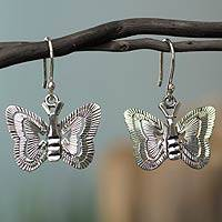 Silver dangle earrings, Freedom