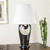 Ceramic table lamp, 'Light Source' - Handcrafted Ceramic Table Lamp Mexico