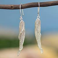 Sterling silver dangle earrings, 'Nouveau Grace' - Handcrafted Art Nouveau Silver Earrings