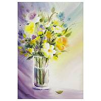 'Vase' - Original watercolour Floral Bouquet Painting