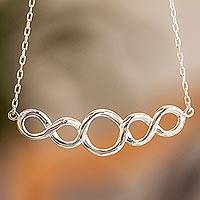 Sterling silver pendant necklace, 'Infinity' - Sterling Silver NecklaceTaxco Artisan Jewelry